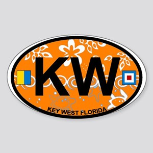 Key West - Oval Design. Sticker (Oval)