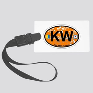 Key West - Oval Design. Large Luggage Tag