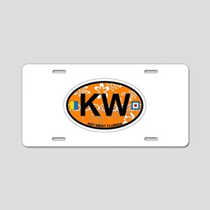 Key West - Oval Design. Aluminum License Plate