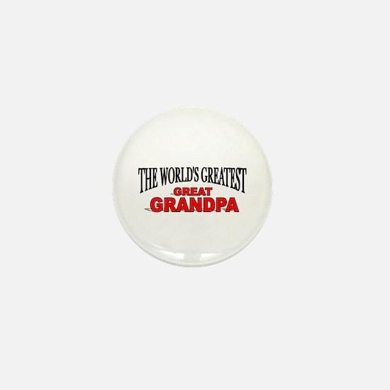 """""""The World's Greatest Great Grandpa"""" Mini Button"""