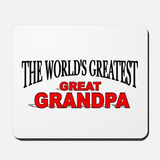 """The World's Greatest Great Grandpa"" Mousepad"
