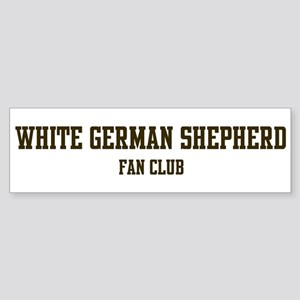 White German Shepherd Fan Clu Bumper Sticker