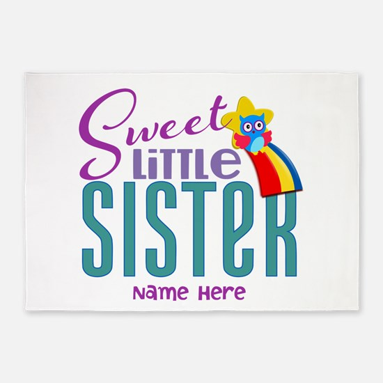 Personalized Name Sweet Little Sister 5'x7'Area Ru
