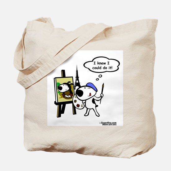 VivaPup - Happy Painter and T Tote Bag