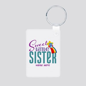 Personalized Name Sweet Little Sister Keychains