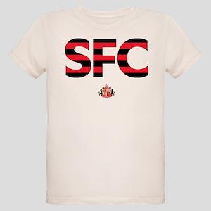 Sunderland Black/Red striped Organic Kids T-Shirt