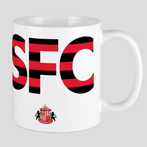 Sunderland Black/Red striped SFC 11 oz Ceramic Mug
