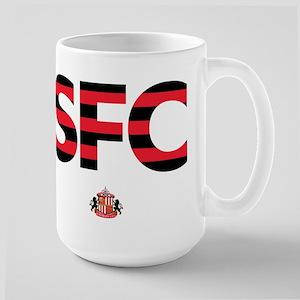 Sunderland Black/Red stri 15 oz Ceramic Large Mug