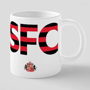 Sunderland Black/Red stripe 20 oz Ceramic Mega Mug