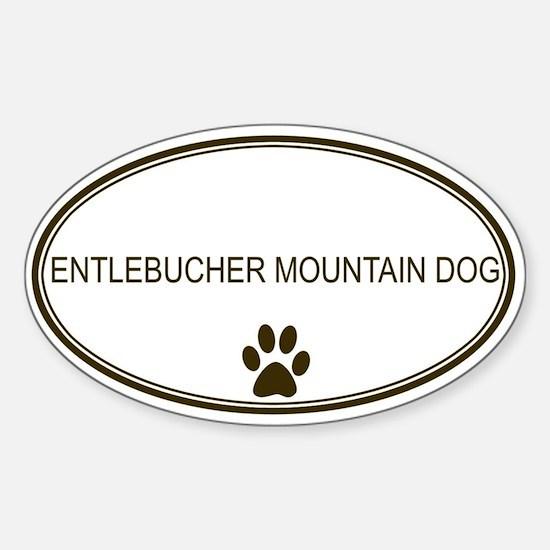 Oval Entlebucher Mountain Dog Oval Decal