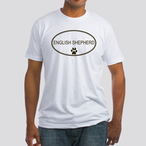 Oval English Shepherd Fitted T-Shirt