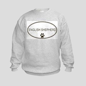 Oval English Shepherd Kids Sweatshirt