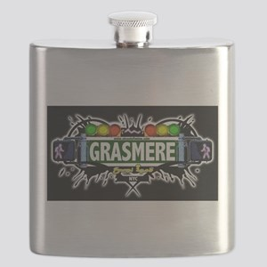 Grasmere Staten Island NYC (Black) Flask
