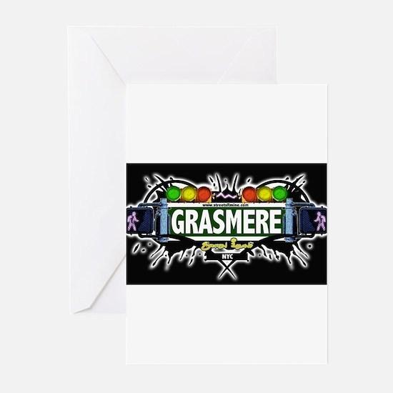 Grasmere Staten Island NYC (Black) Greeting Cards
