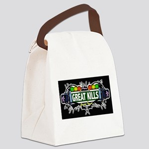 Great Kills Staten Island NYC (Black) Canvas Lunch