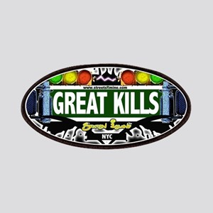 Great Kills Staten Island NYC (Black) Patches