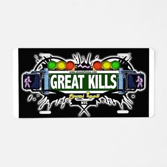 Great Kills Staten Island NYC (Black) Aluminum Lic