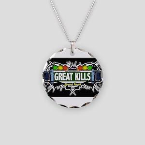 Great Kills Staten Island NYC (Black) Necklace Cir