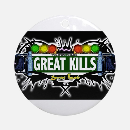 Great Kills Staten Island NYC (Black) Ornament (Ro