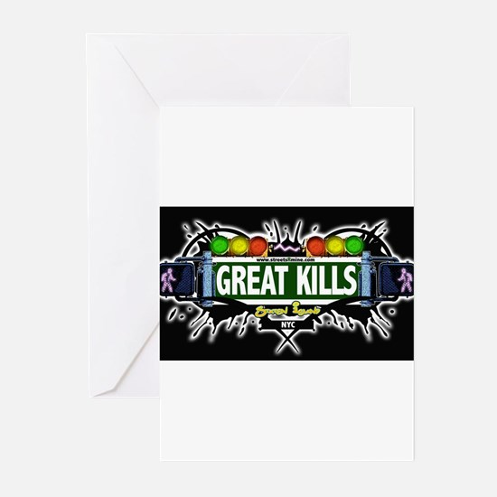 Great Kills Staten Island NYC (Black) Greeting Car