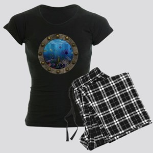 Underwater Love Porthole Women's Dark Pajamas
