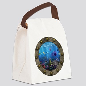 Underwater Love Porthole Canvas Lunch Bag