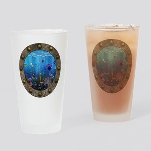 Underwater Love Porthole Drinking Glass