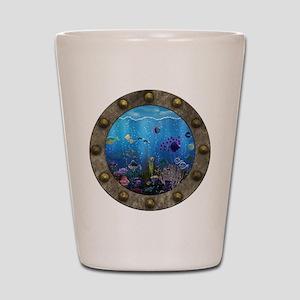 Underwater Love Porthole Shot Glass