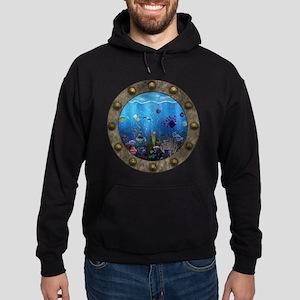 Underwater Love Porthole Hoodie (dark)