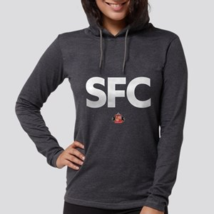 Sunderland white SFC logo Womens Hooded Shirt