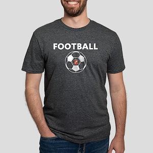 Sunderland white Soccer Bal Mens Tri-blend T-Shirt