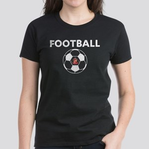 Sunderland white Soccer Ball Women's Dark T-Shirt
