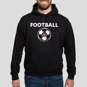 Sunderland white Soccer Ball Hoodie (dark)