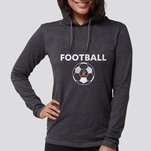 Sunderland white Soccer Ball Womens Hooded Shirt