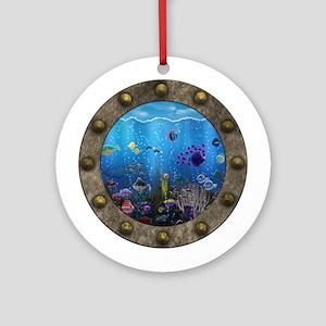 Underwater Love Porthole Ornament (Round)