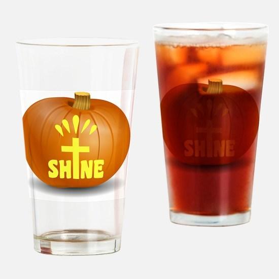 Unique Halloween pumpkin Drinking Glass