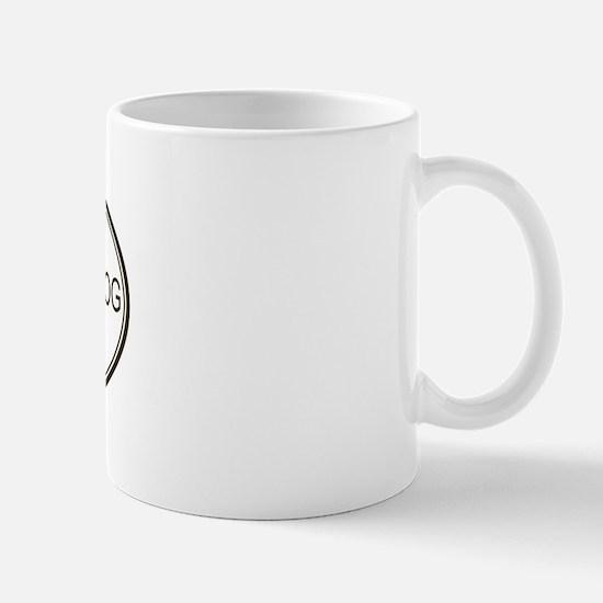 Oval Dutch Shepherd Dog Mug