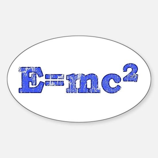 E=mc2 T-shirts Oval Decal