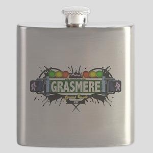 Grasmere Staten Island NYC (White) Flask