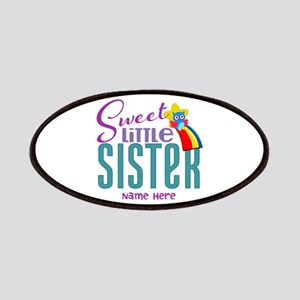 Personalized Name Sweet Little Sister Patches