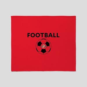 Sunderland Soccer Ball- full bleed Throw Blanket