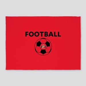 Sunderland Soccer Ball- full bleed 5'x7'Area Rug