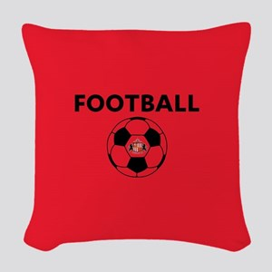 Sunderland Soccer Ball- full b Woven Throw Pillow