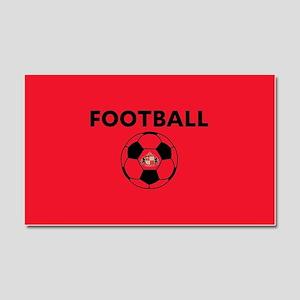 Sunderland Soccer Ball- full bl Car Magnet 20 x 12