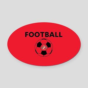 Sunderland Soccer Ball- full bleed Oval Car Magnet