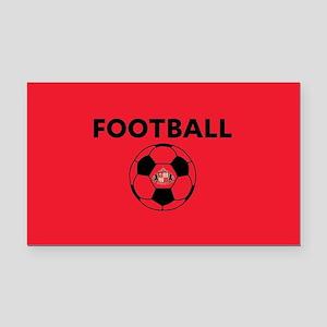 Sunderland Soccer Ball- full Rectangle Car Magnet