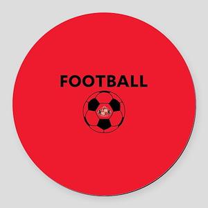 Sunderland Soccer Ball- full blee Round Car Magnet