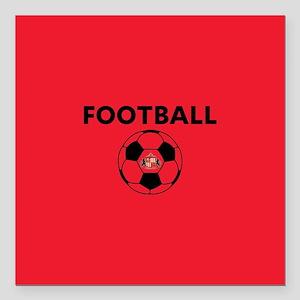 """Sunderland Soccer Ball- Square Car Magnet 3"""" x 3"""""""