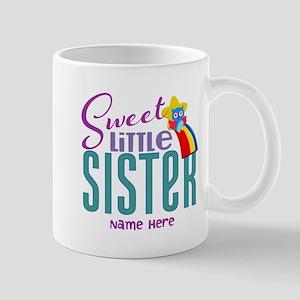 Personalized Name Sweet Little Sister Mug