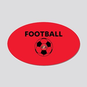 Sunderland Soccer Ball- full 20x12 Oval Wall Decal